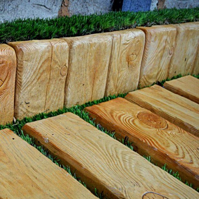 Доски для садовых дорожек