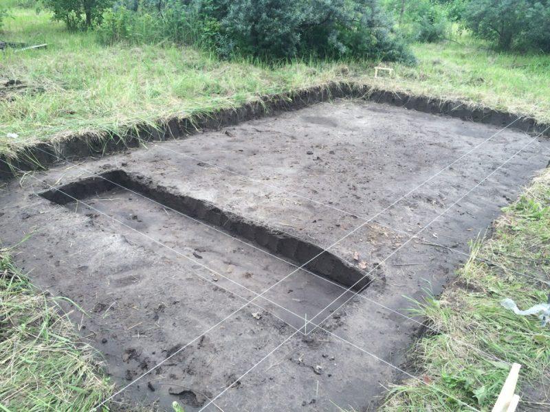 Разметка отведенного участка под фундамент. мангала