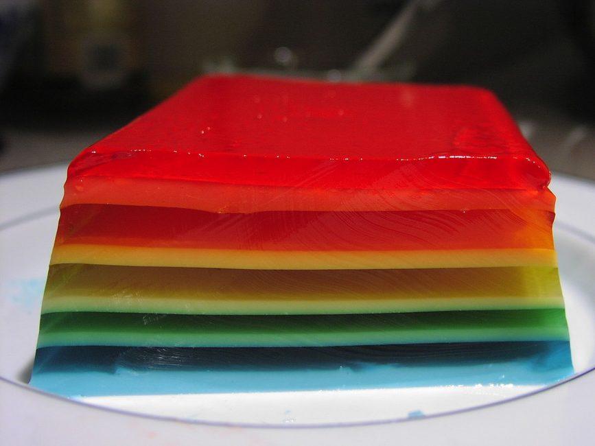 Желе разноцветное