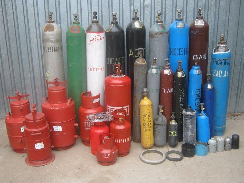 разные газовые балоны