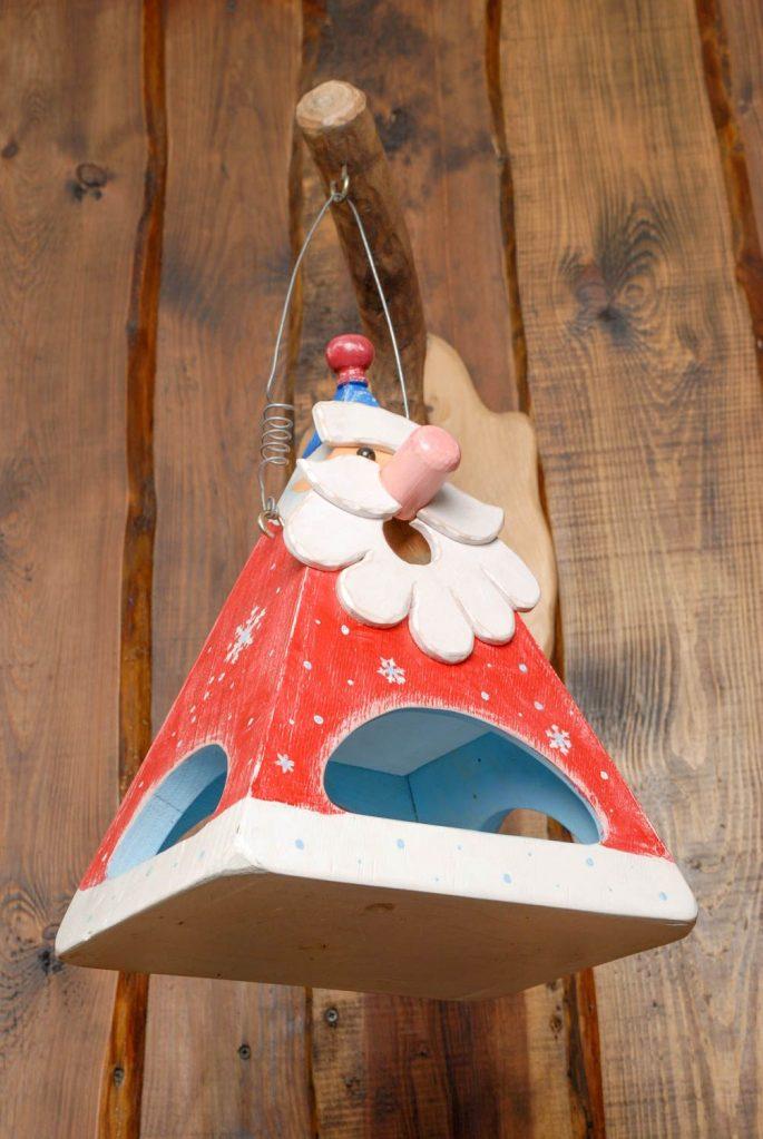 Керамическая поделка кормушка для птиц