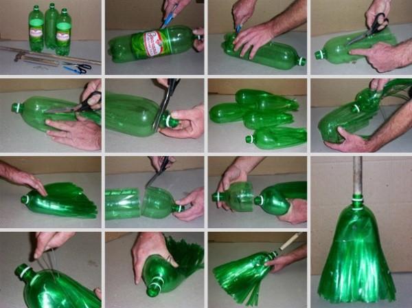 Инструкция как из бутылки сделать метлу