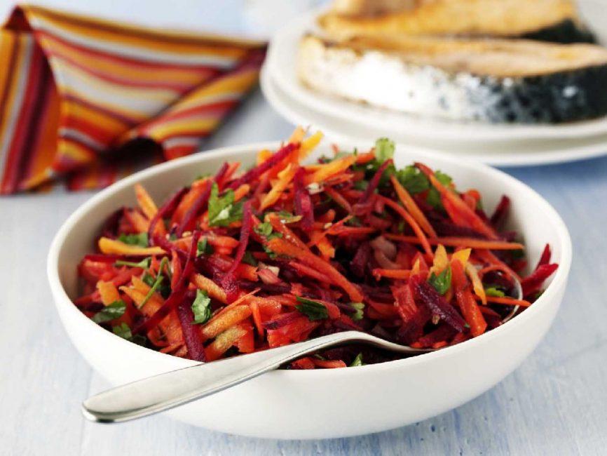 Салат по корейски свекла и морковь