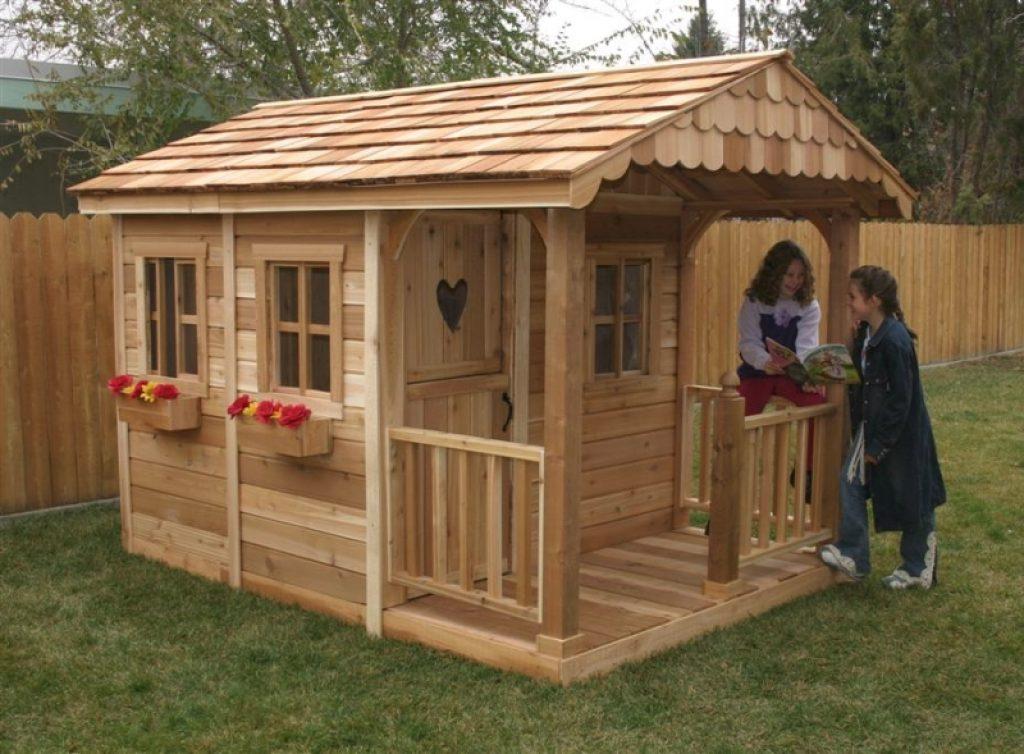 Маленький домик на даче для детей своими руками 40
