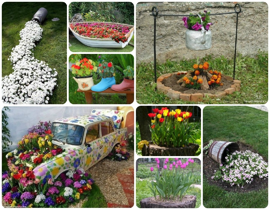 Как украсить сад и огород фото