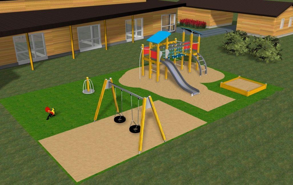Ориентировочный план пространства для развлечений малышей