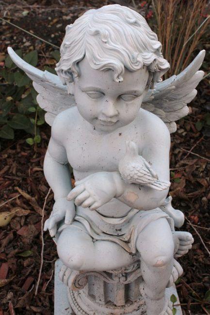 гипсовый ангел для сада
