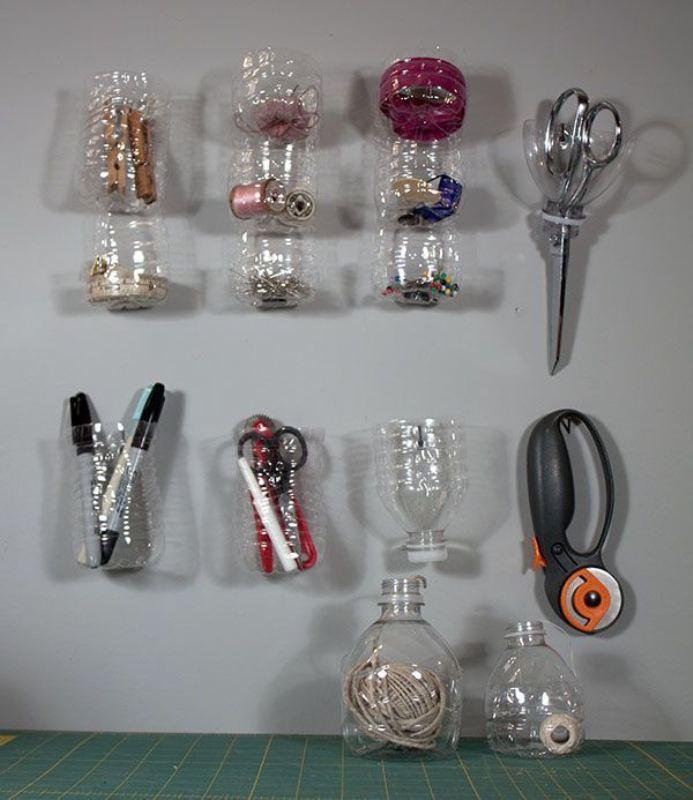 Настенные органайзеры из пластикатовых бутылок