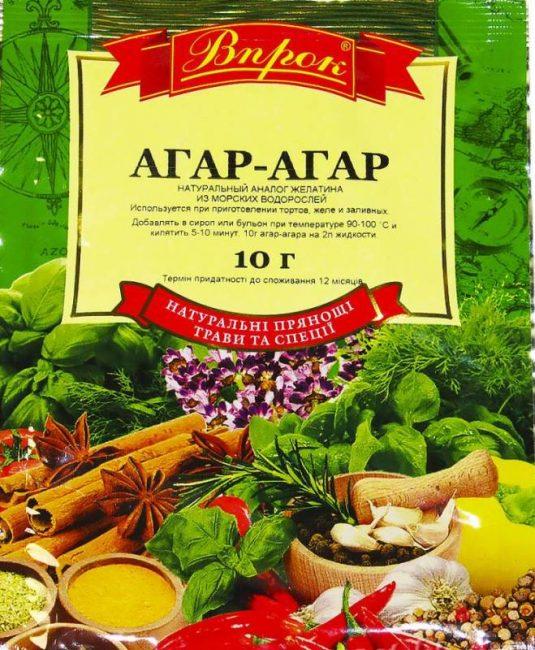 Агар-агар на основе морских водорослей – прекрасный желирующий продукт