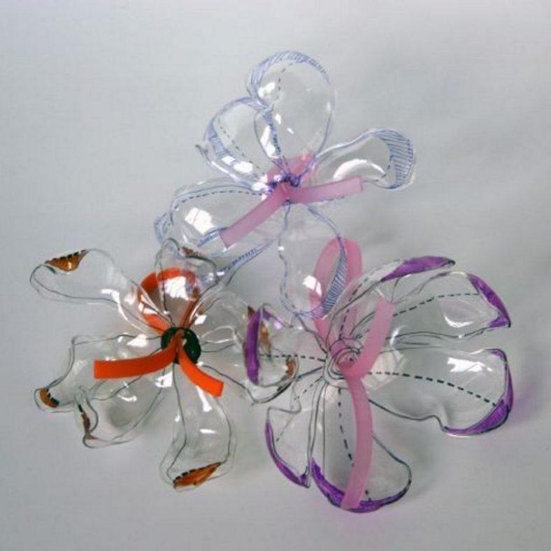 декоративные украшения из пластиковых бутылок