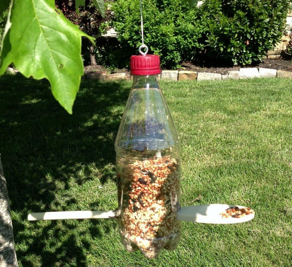 Кормушки для птиц поделки из пластиковых бутылок: идеи, фото