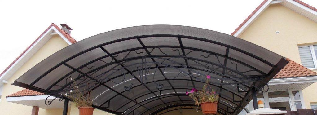 Навесы из поликарбоната фото к частному дому своими руками 871