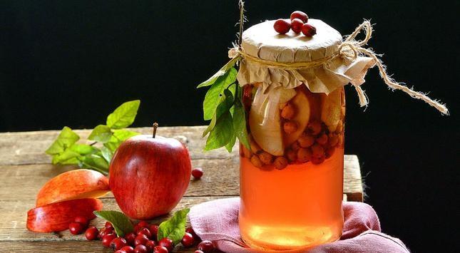 Яблоки с боярышником.