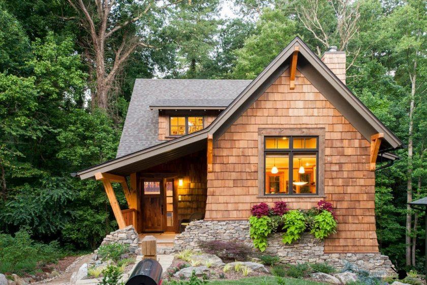 Строительство дачного домика: 95 фото простых проектов и современных идей для дачи || Красивые деревянные дачные дома