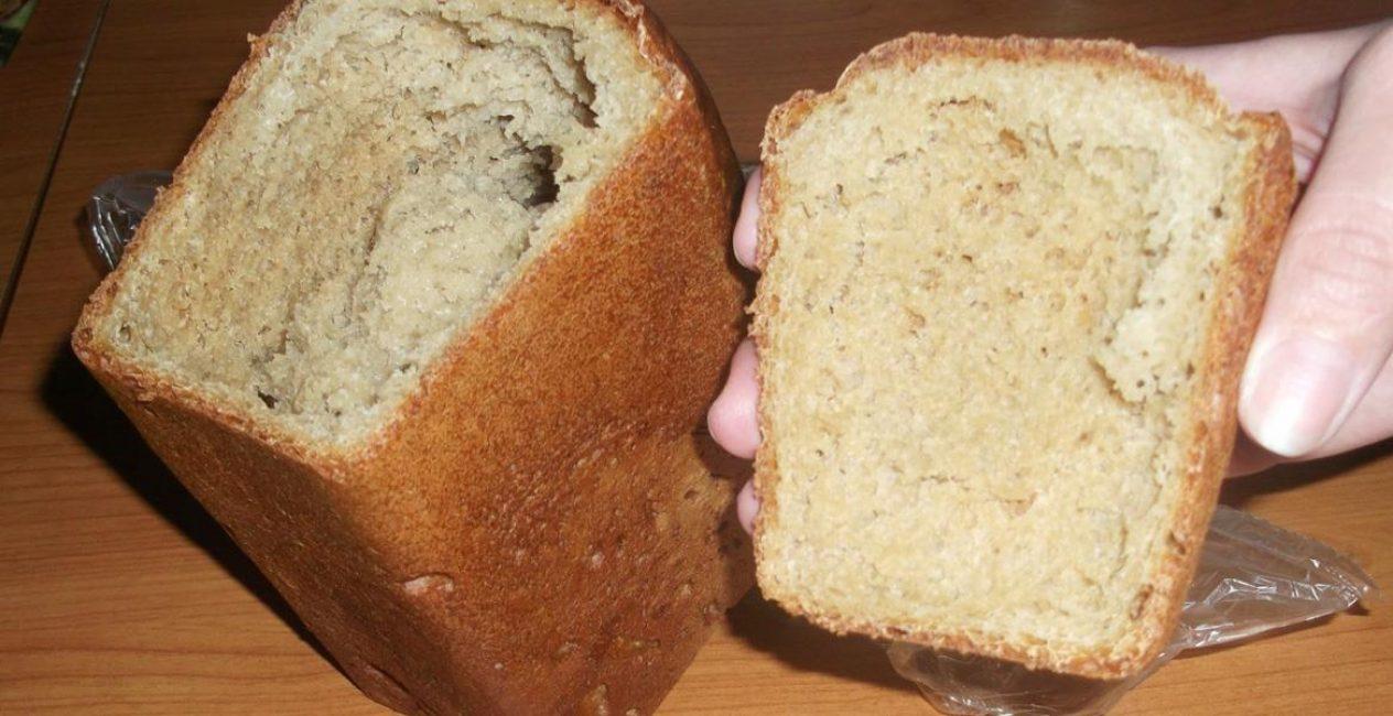 Не пропекшийся хлеб