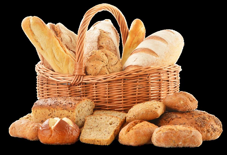 Корзина с разными видами хлеба
