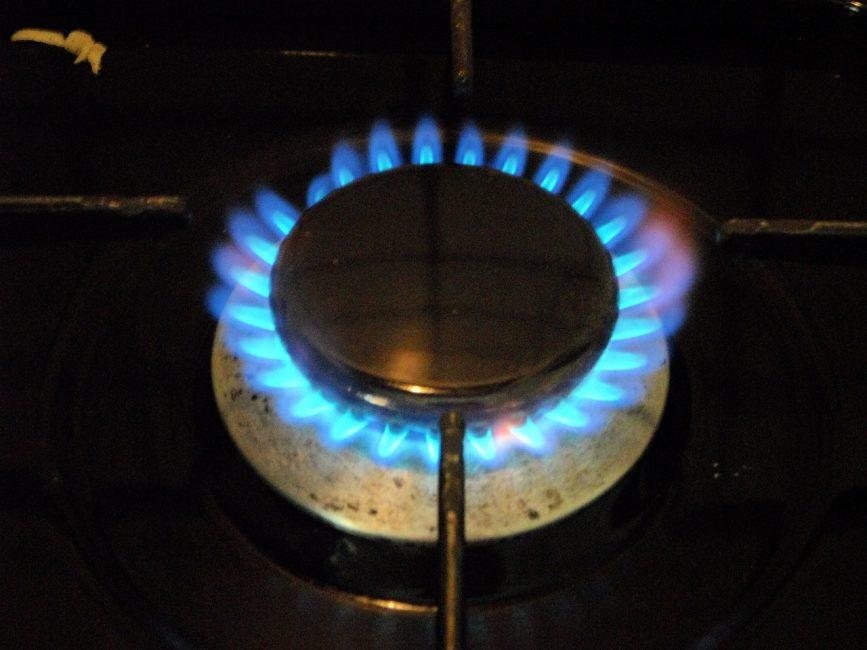 пламя на газовой плите