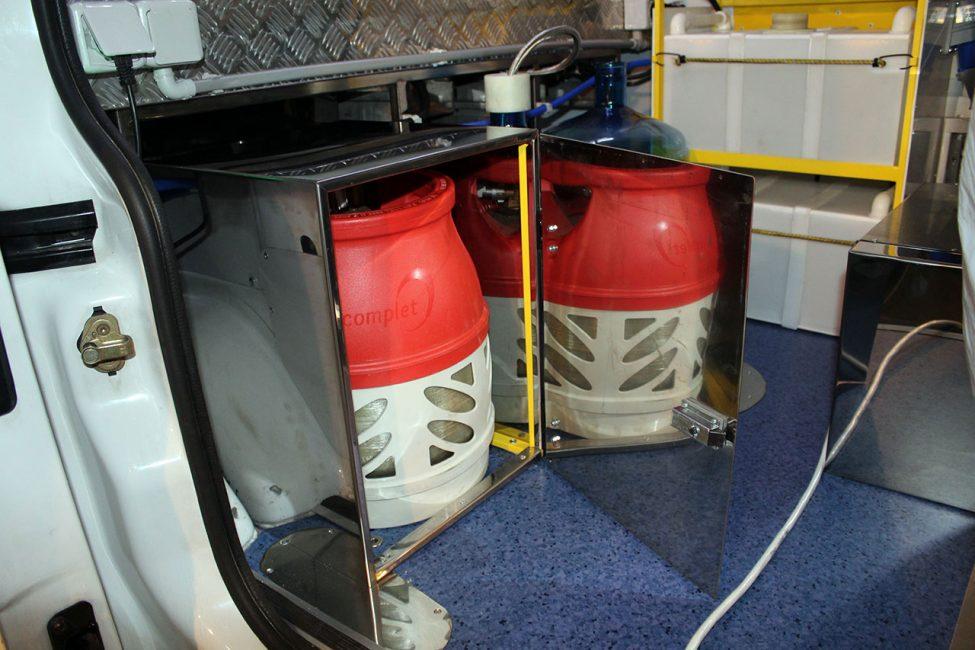 композитный газовый баллон на кухне