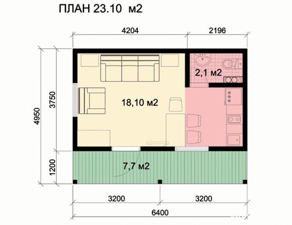 проект небольшого домика