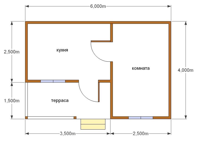Планировка дома среднего размера