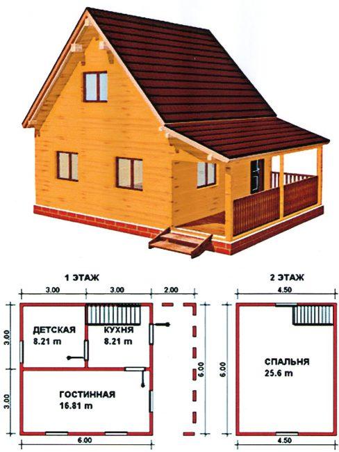 Проект двухэтажного строения