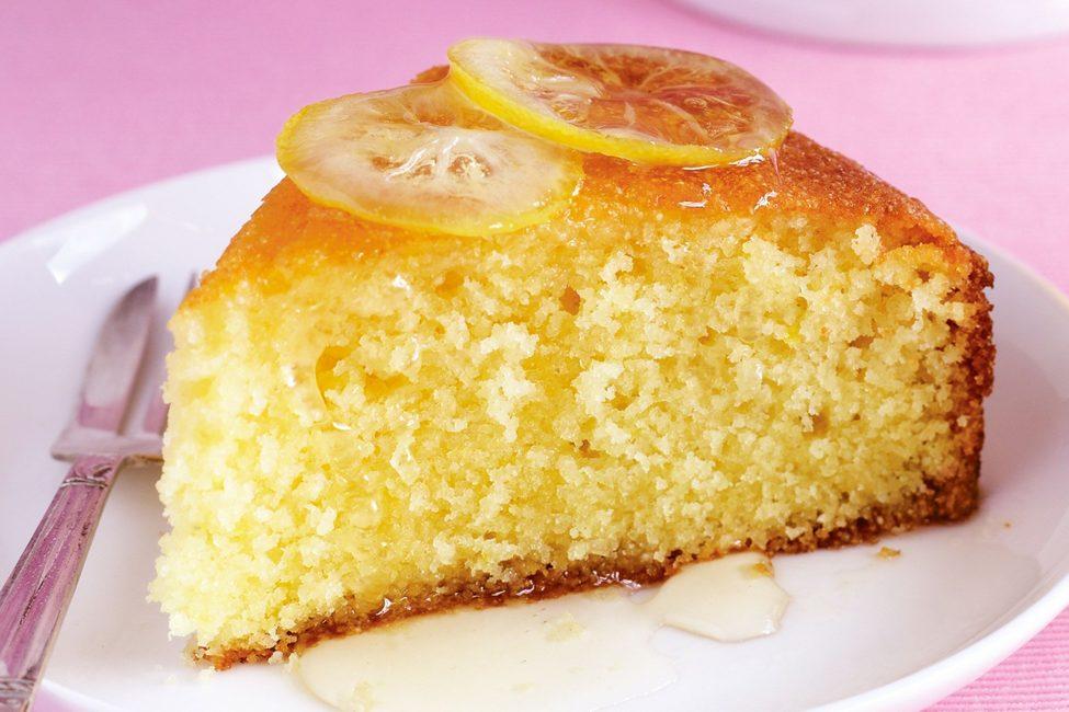 Лимонный пирог с глазурью