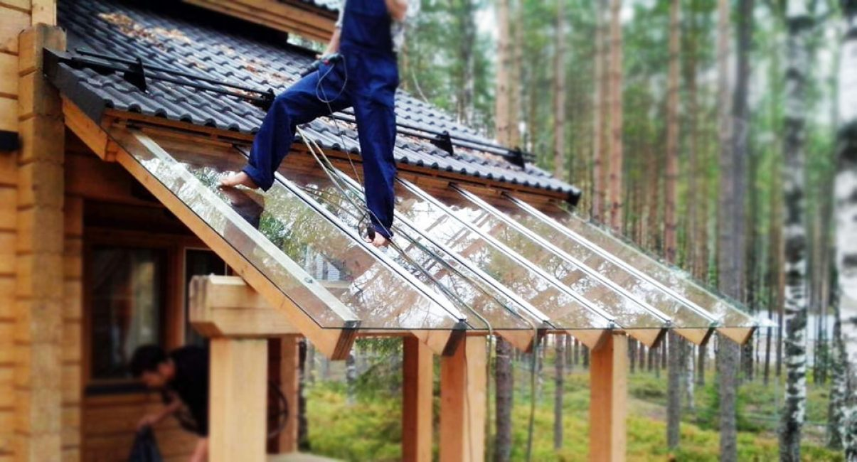 стрелянная крыша для террасы