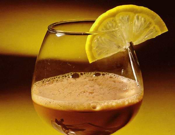 Коньячно-лимонный коктейль