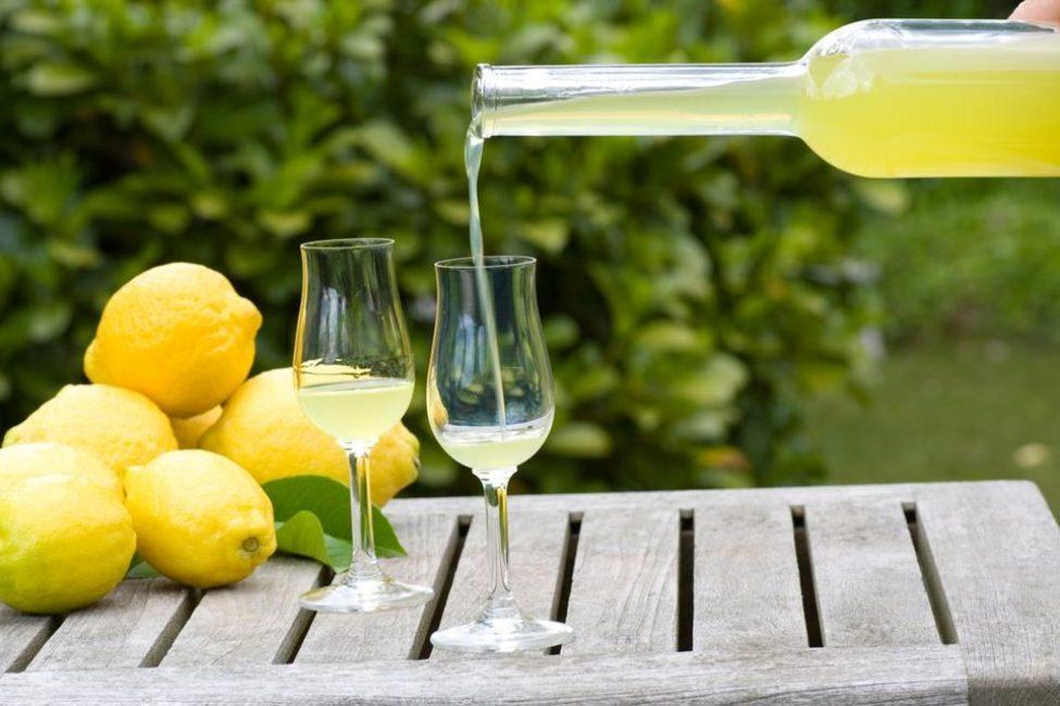 Лимончелло с белым вином