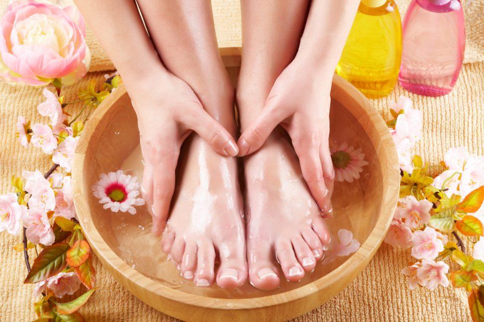 Боярышник используется для различных ванн для ног