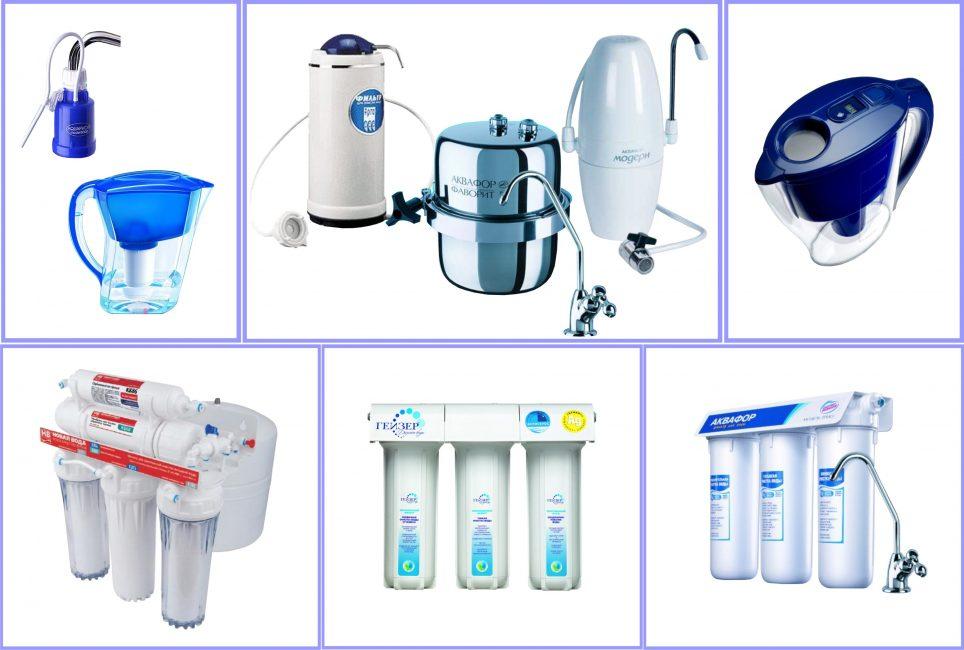 Виды водяных фильтров