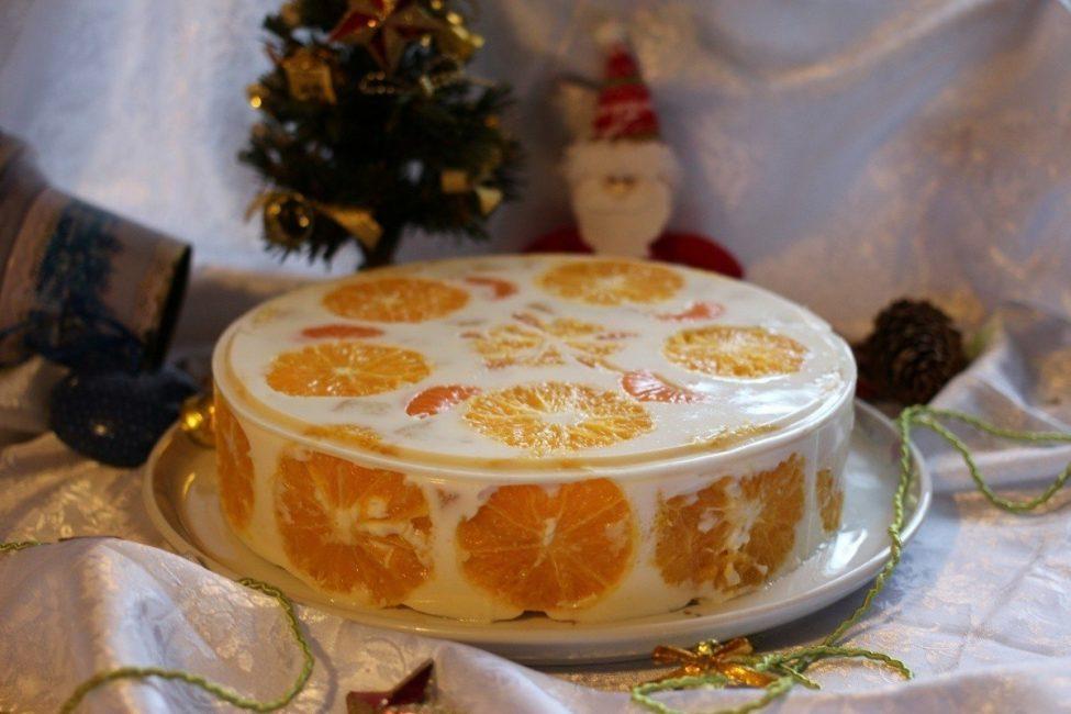 Желейный праздничный торт