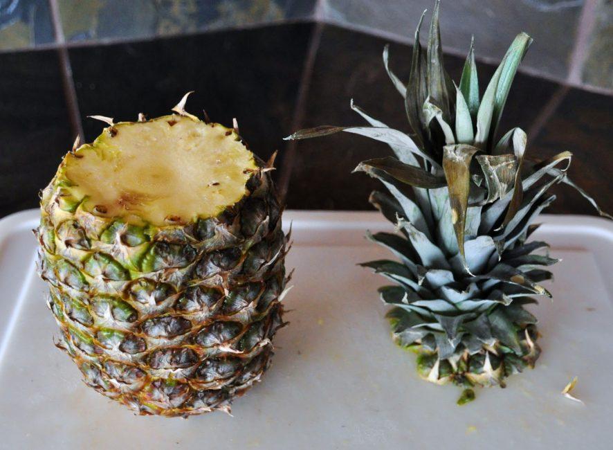 Срезанная верхушка с частью плода