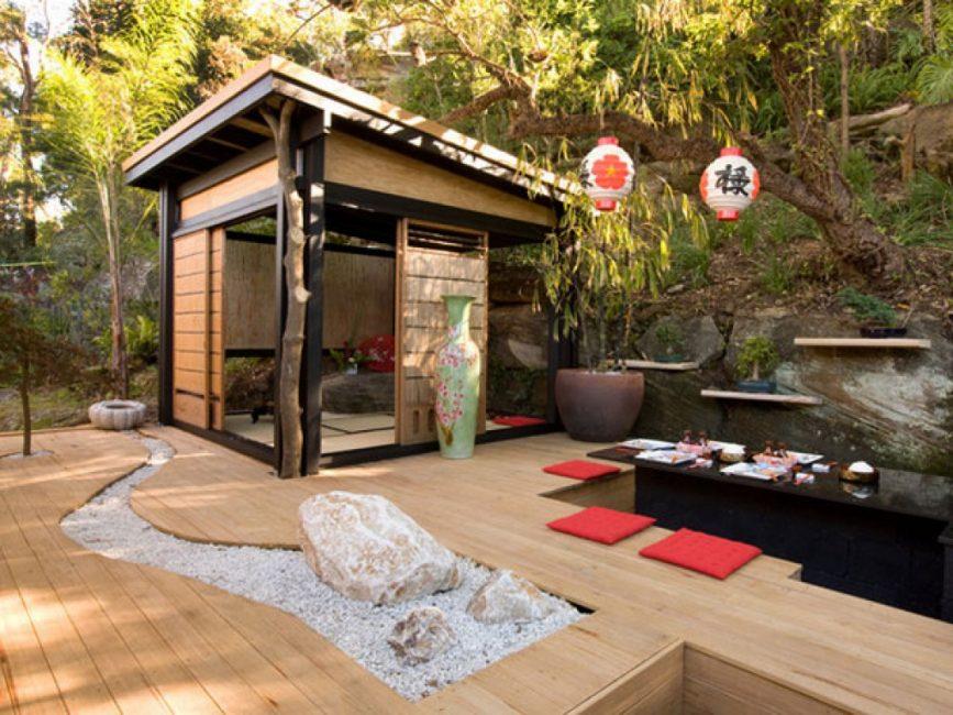 Патио в японском стиле