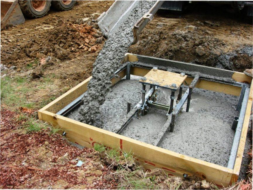 Заливка фундамента для постройки будки из бетона