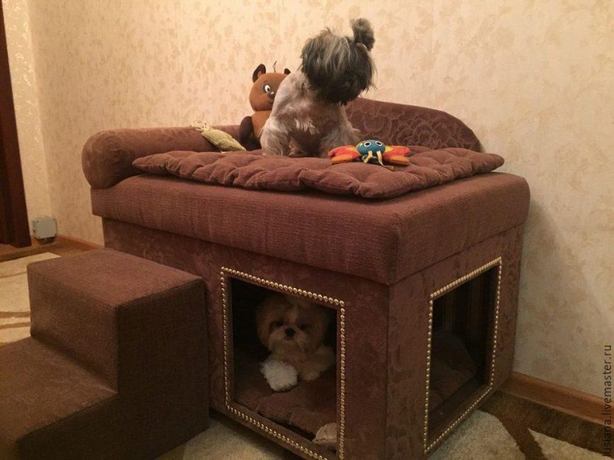 Вариант будки для собаки, живущей в квартире
