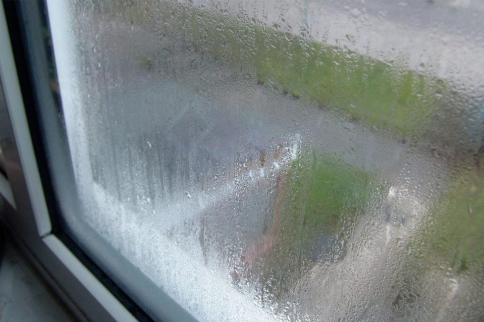 Окна запотевшие снаружи. Такая ситуация встречается крайне редко