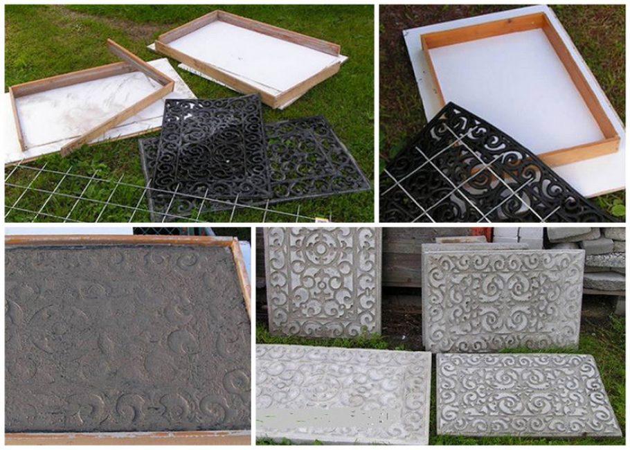 Поверх плитки можно отпечатать любой узор