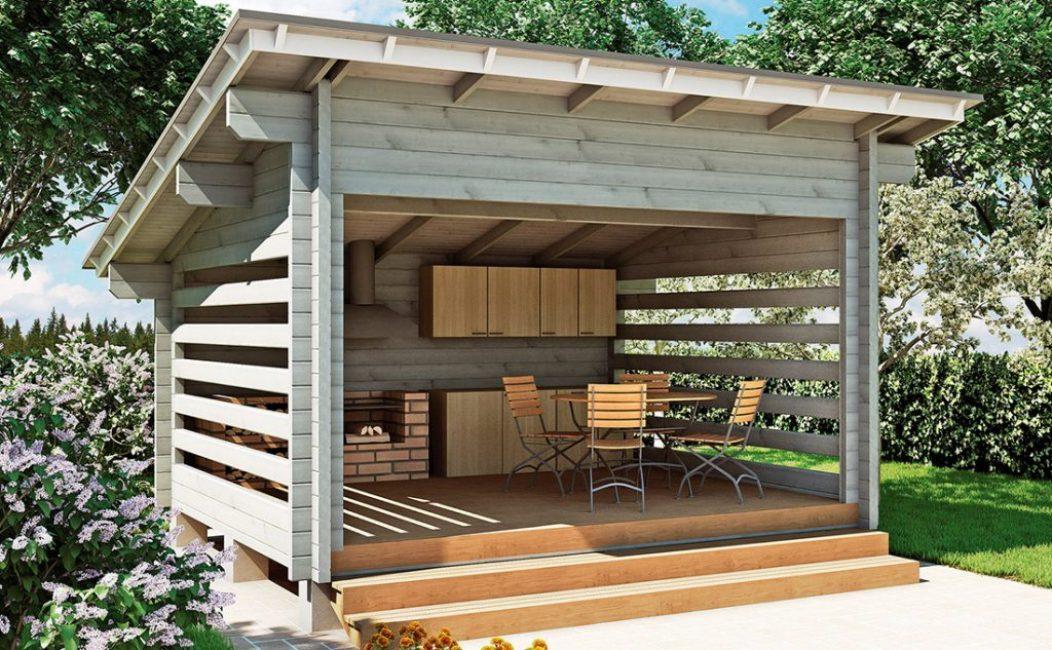 Простейшее деревянное строение