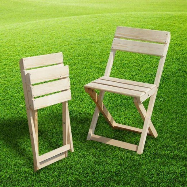 Вариант складного стула