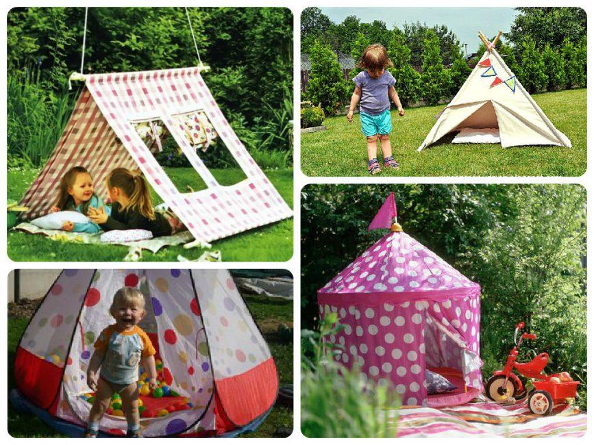 Виды уличных детских палаток