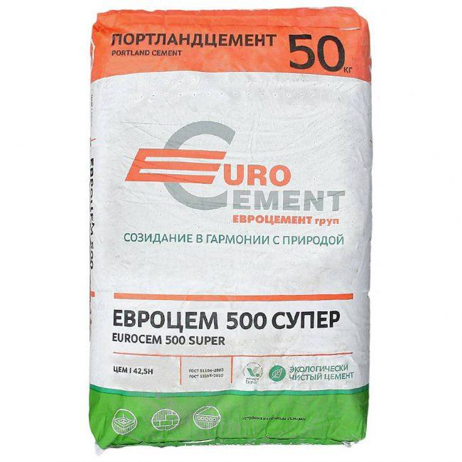 Нужно выбирать цемент не ниже хорошего качества, не ниже м500