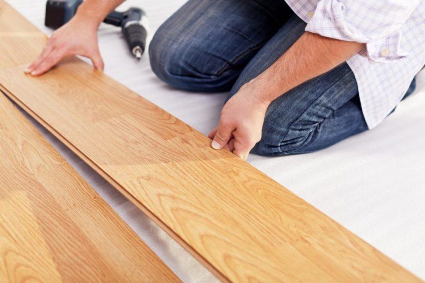 ламинат на деревянный пол своими руками