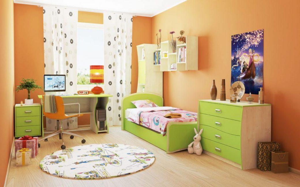 Мирт в детской комнате