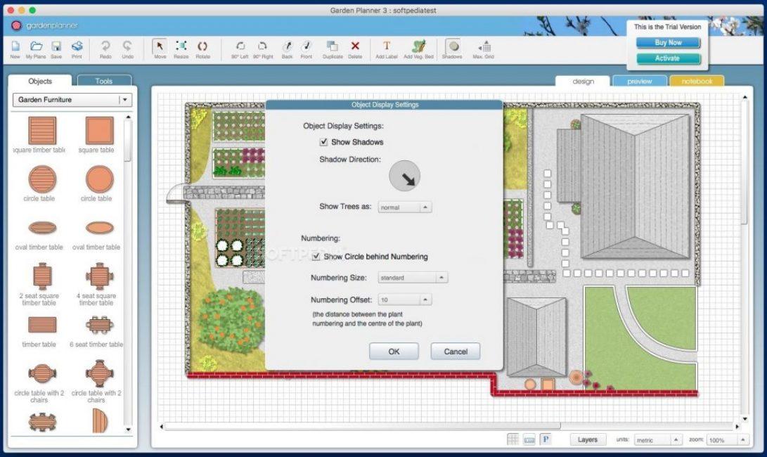 Составление плана-схемы с помощью программы Garden Planner