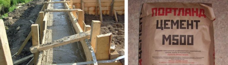 Цемент для ленточного фундамента