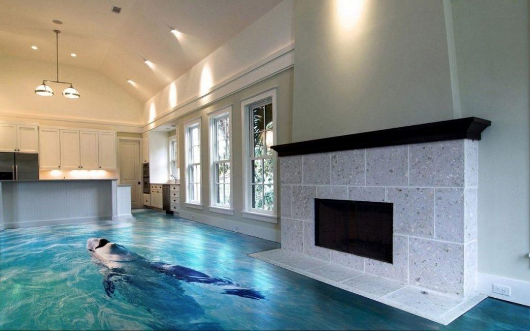 Высококачественный пол бассейна