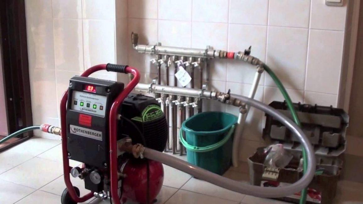 Опрессовка при помощи воздушного компрессора