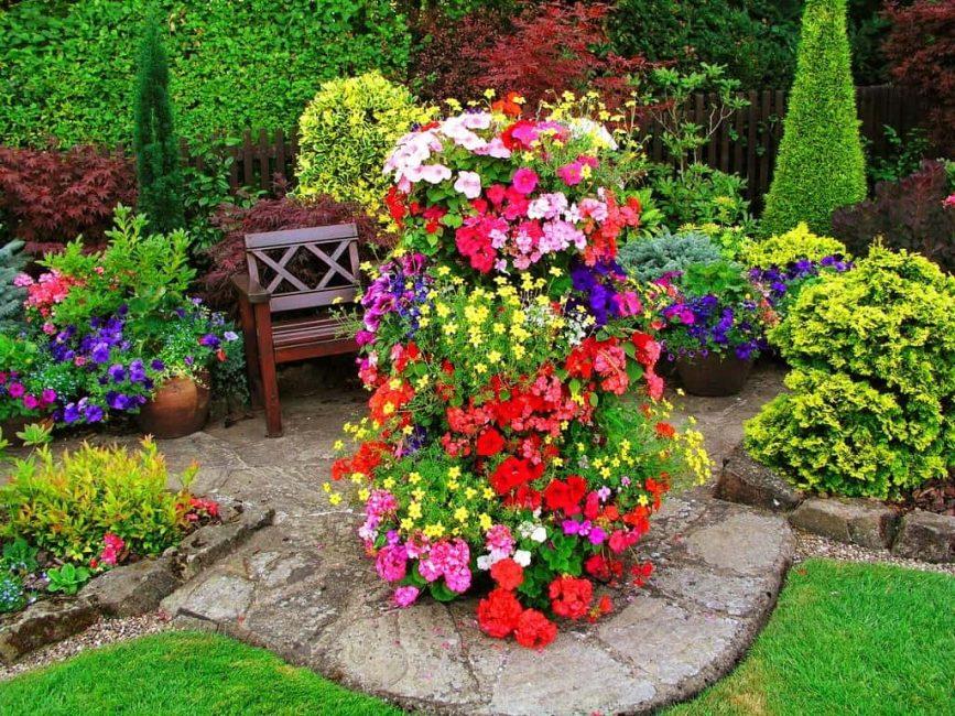 Объединение в группу цветов