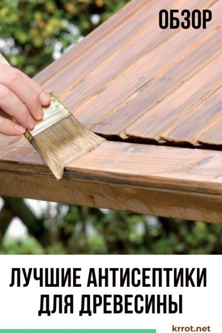Лучшие антисептики для древесины